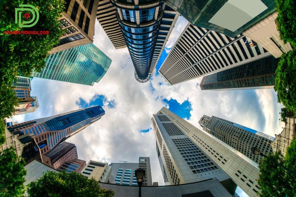 Nhà cao tầng ở thủ đô Singapore