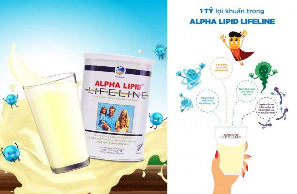 Sữa Non Alpha Lipid Lifeline 450g 2
