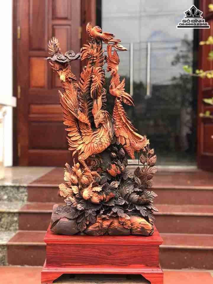 Tượng gỗ Phu Thê Viên Mãn Gỗ Trắc